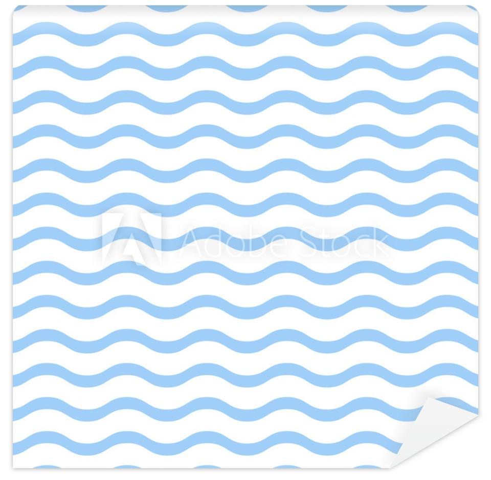 Tapeta Blue waves on white background