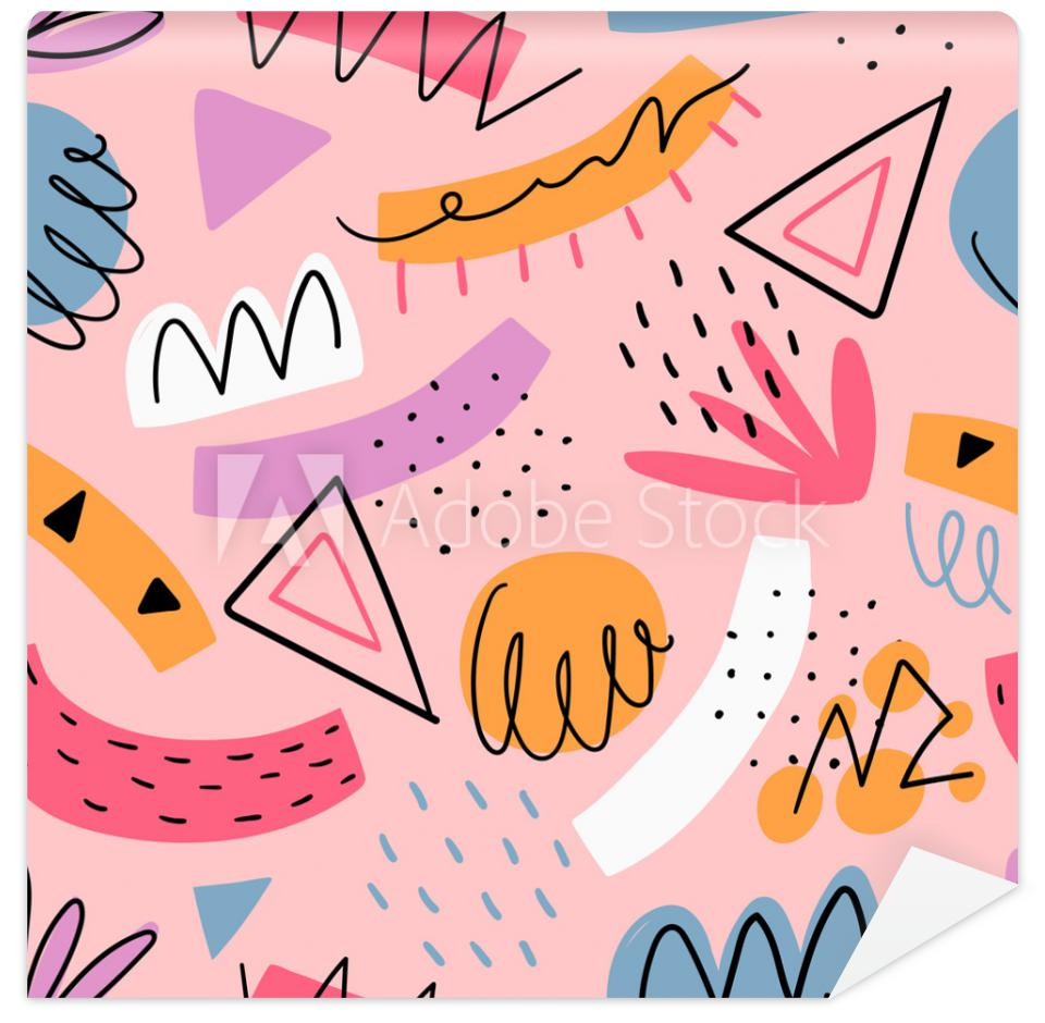 Tapeta Hand drawn abstract kids