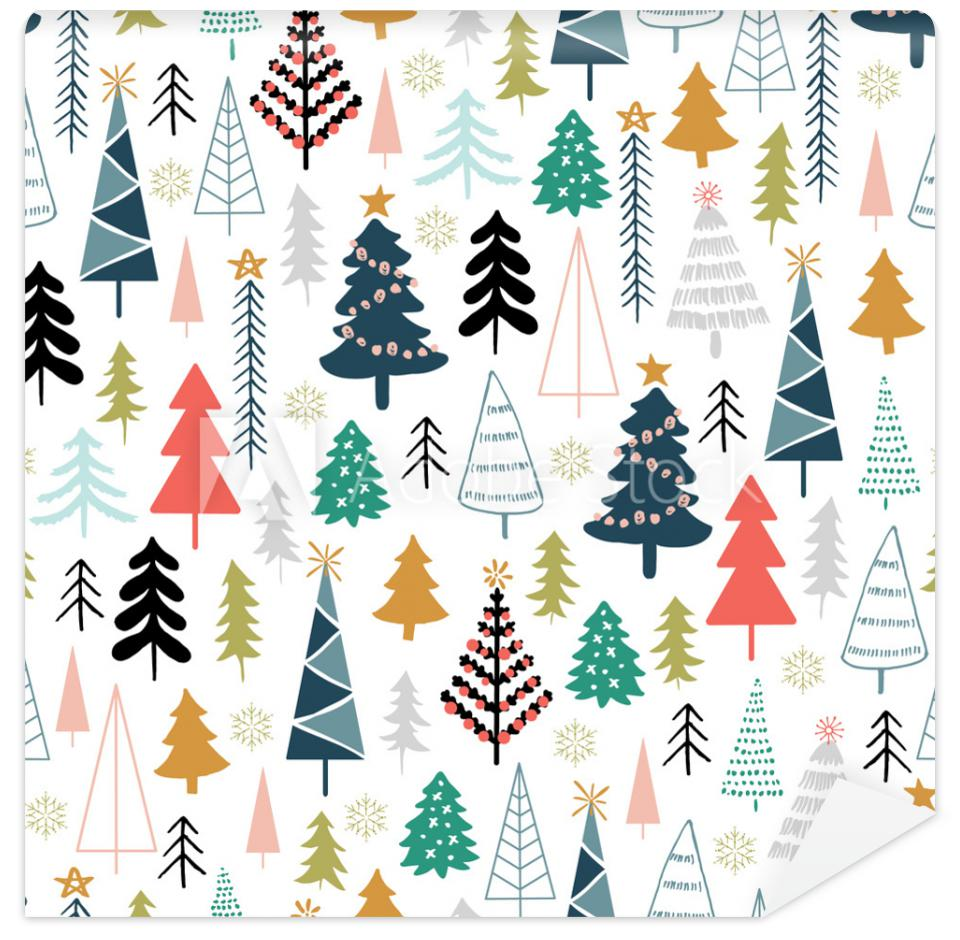 Tapeta Winter seamless pattern with