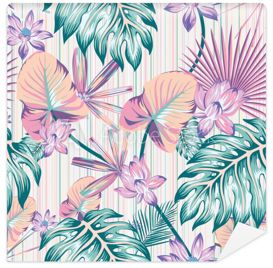 Tapeta Winter tropical pattern