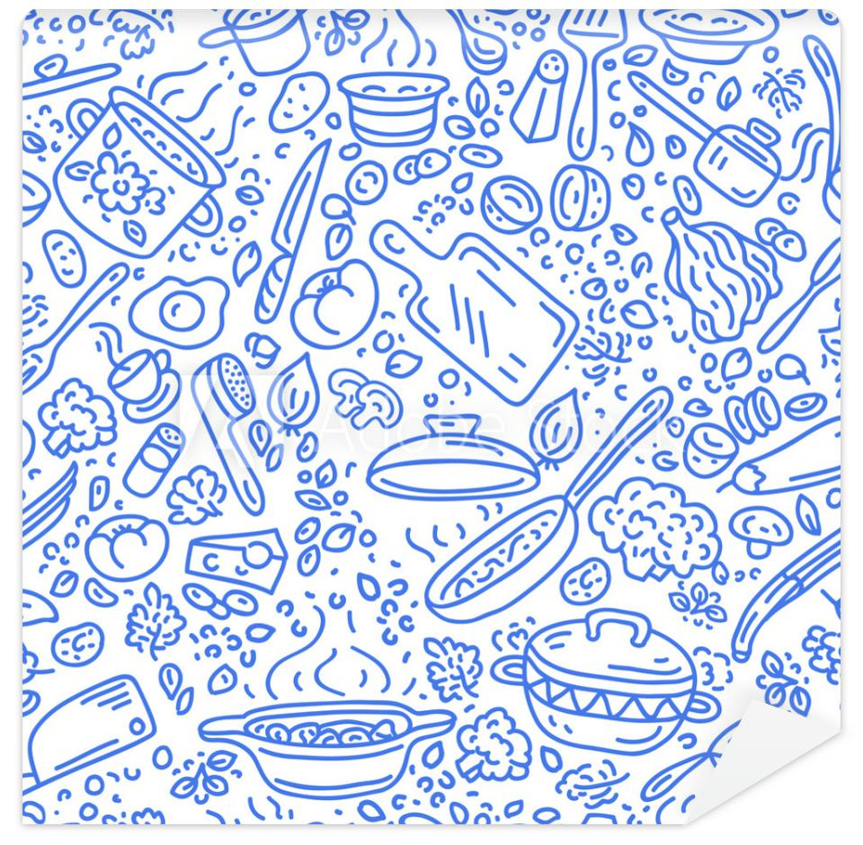 Tapeta Food vector background.