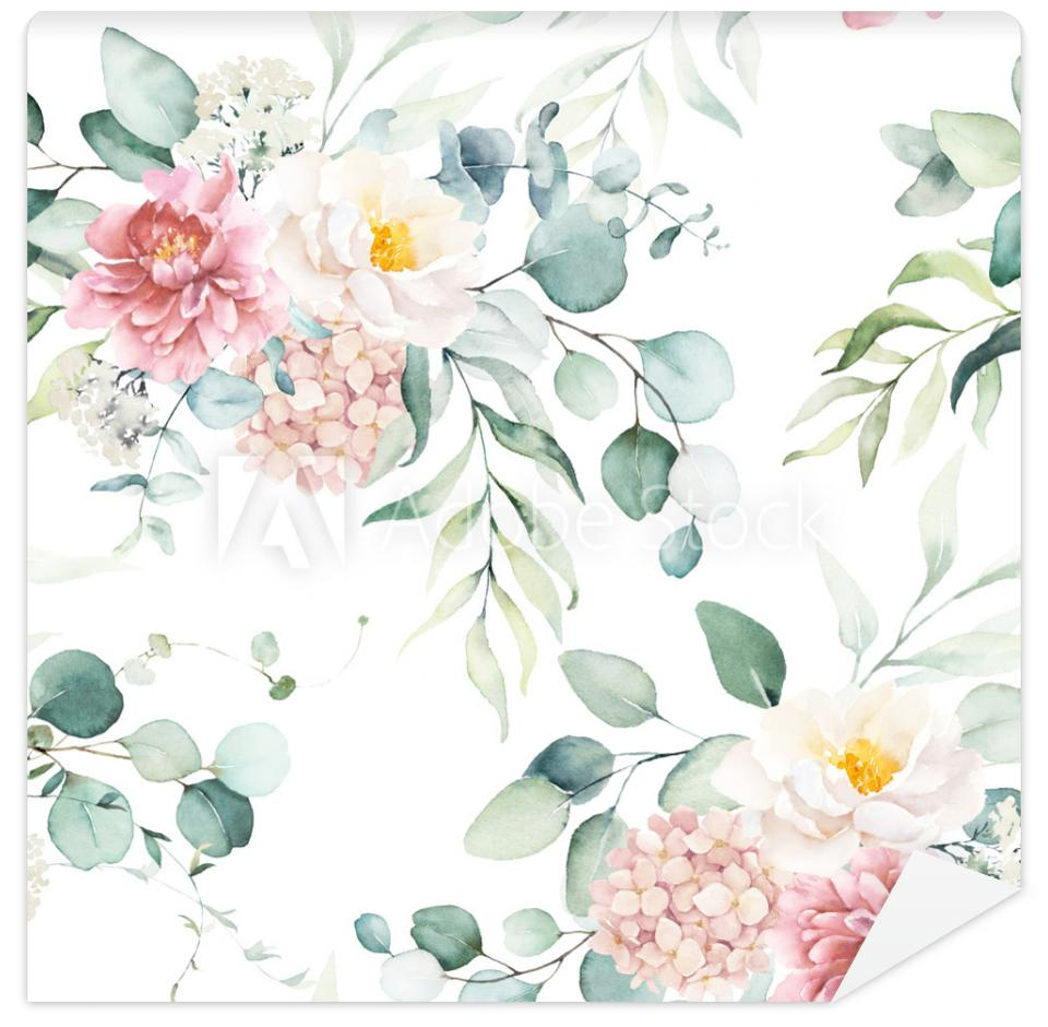 Tapeta Seamless watercolor floral