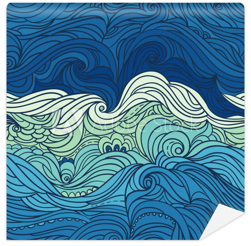 Tapeta Seamless waves pattern.