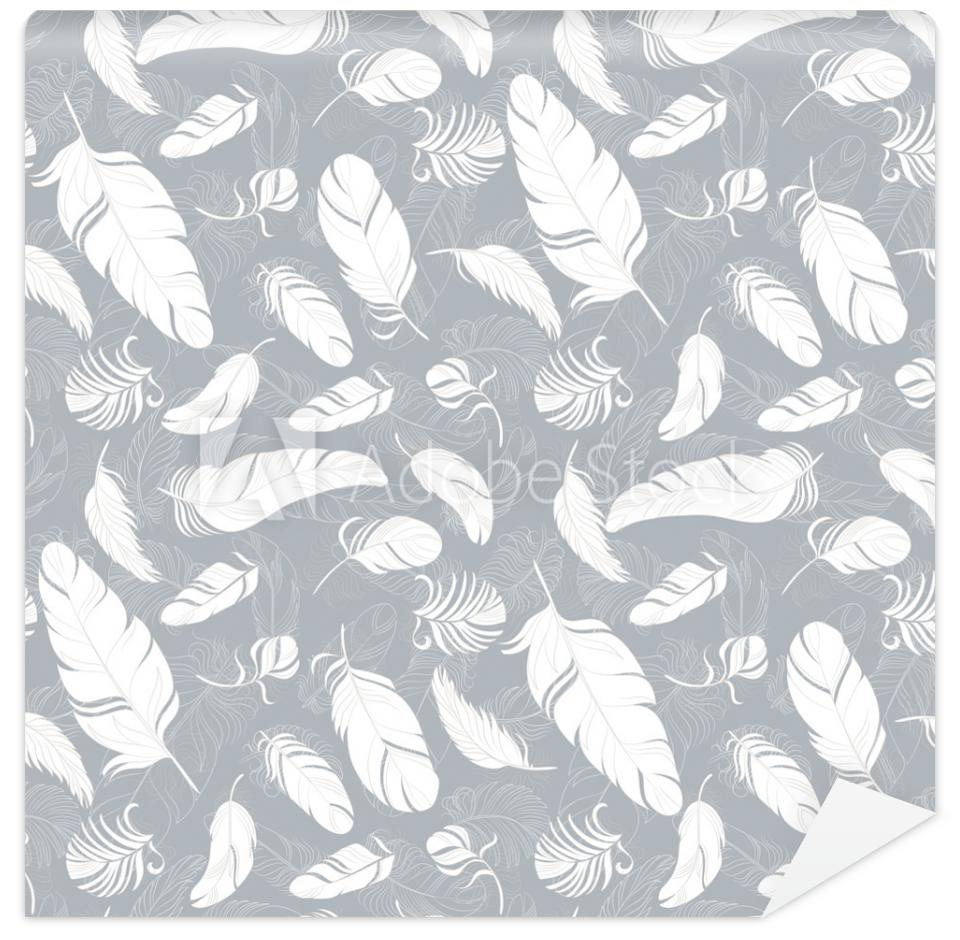 Tapeta Feathers seamless pattern.