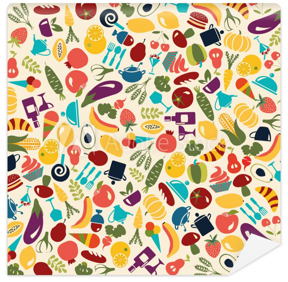 Tapeta Vector Pattern Food and