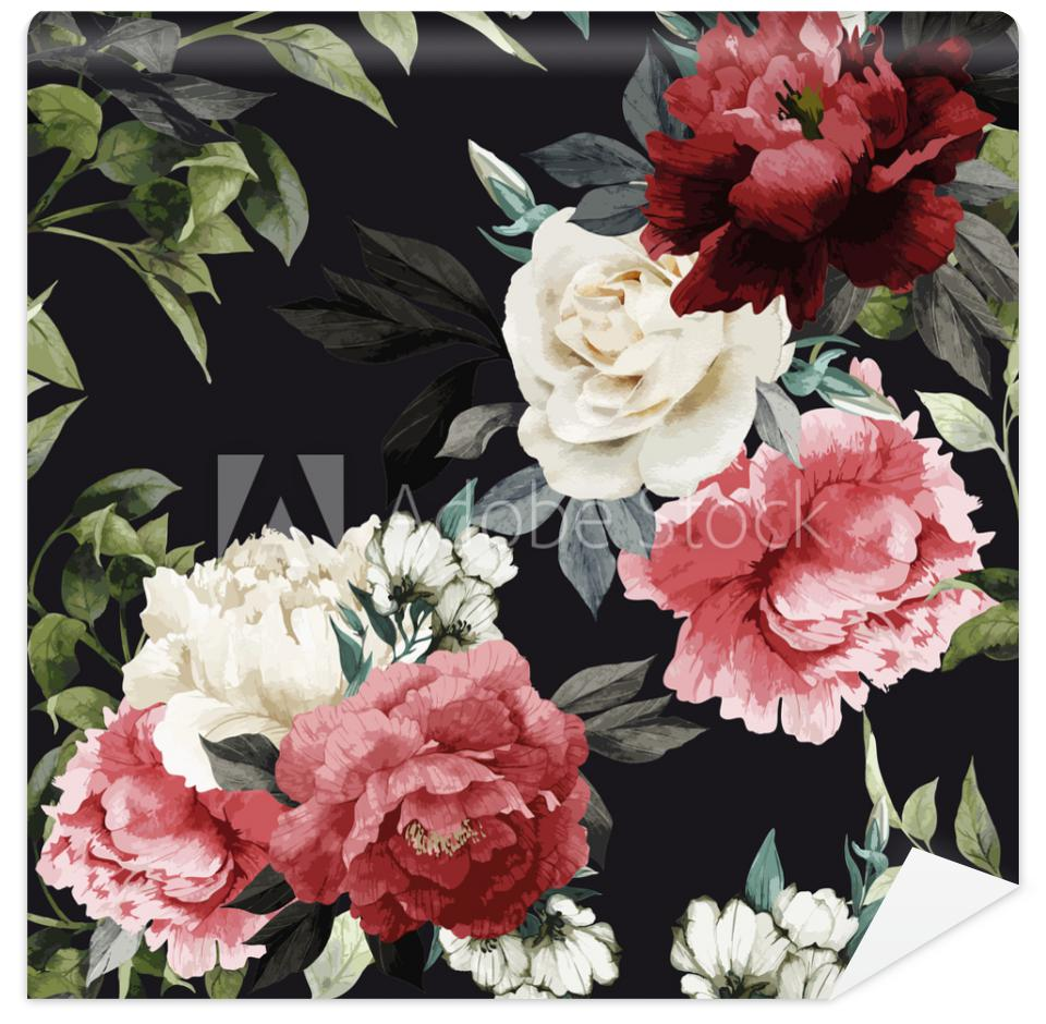 Tapeta Seamless floral pattern with