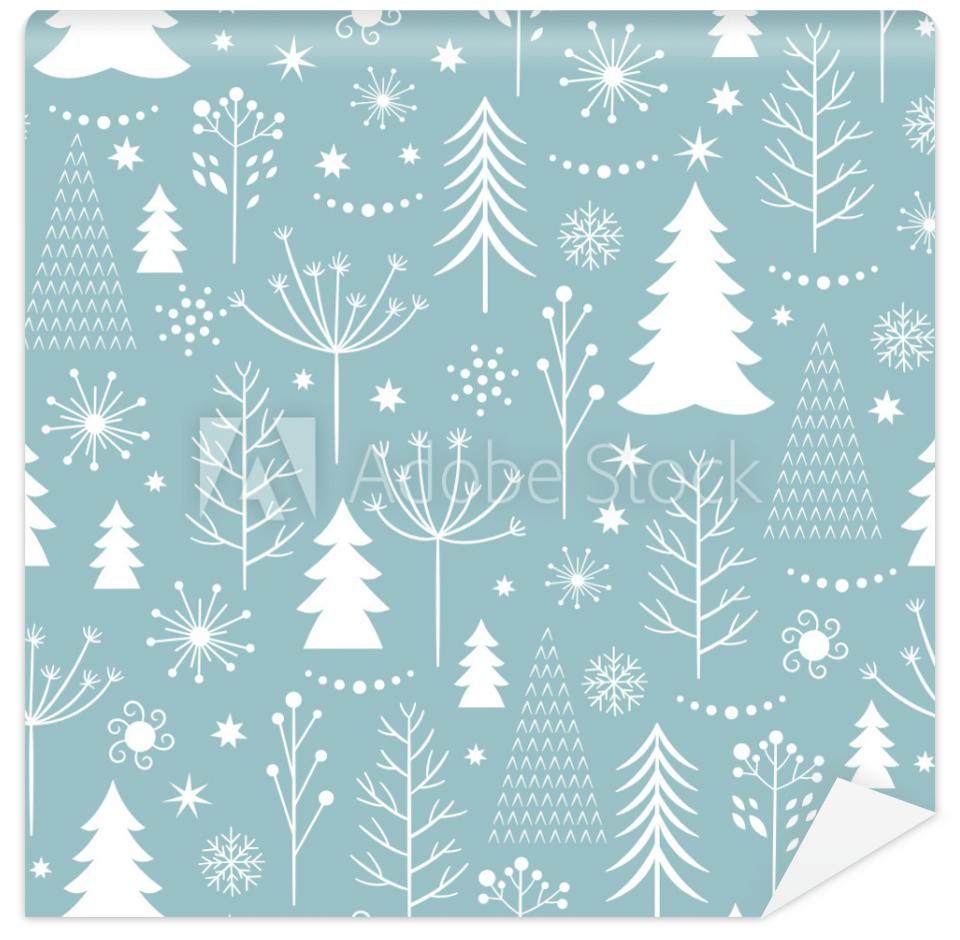 Tapeta seamless Christmas pattern